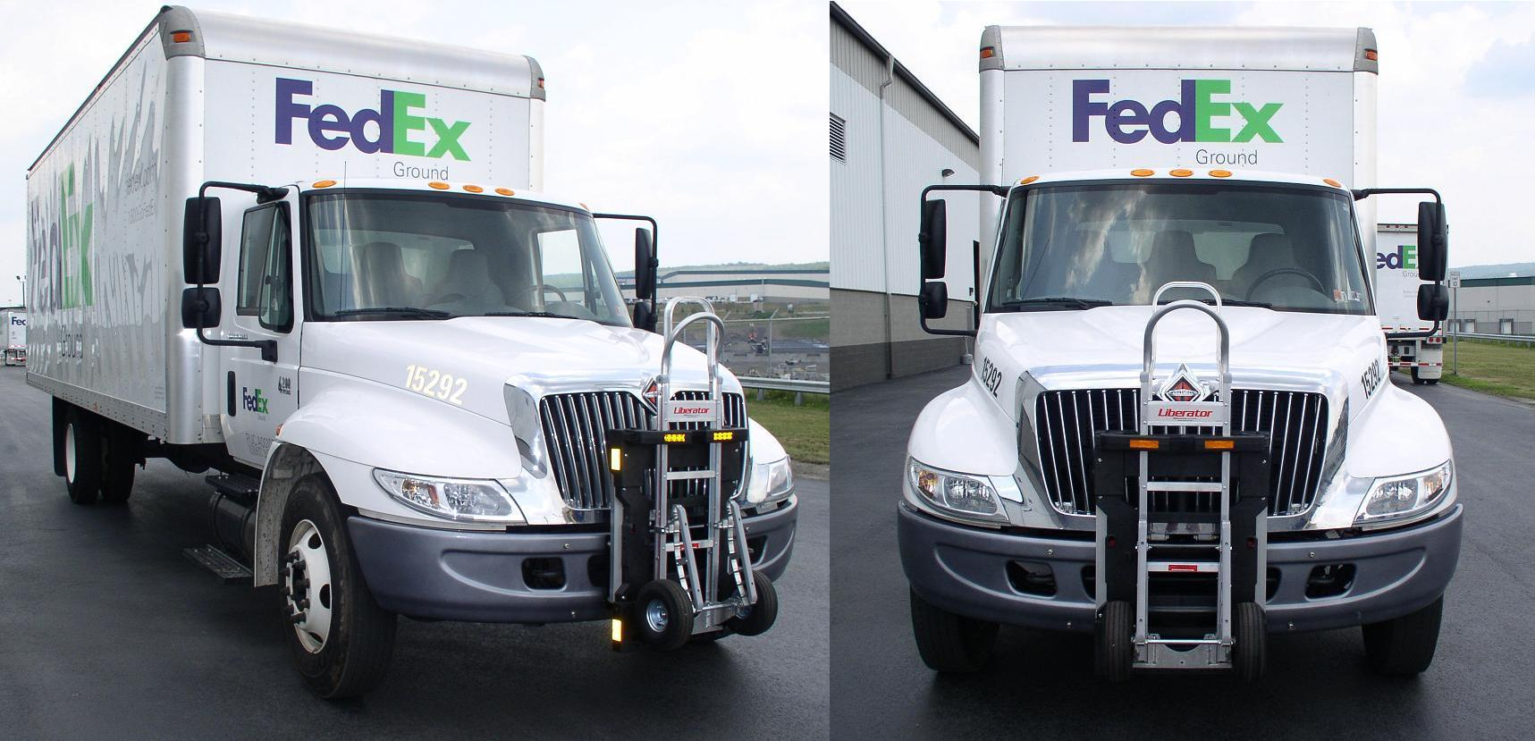 FedEx Ground  Navistar delivery truck