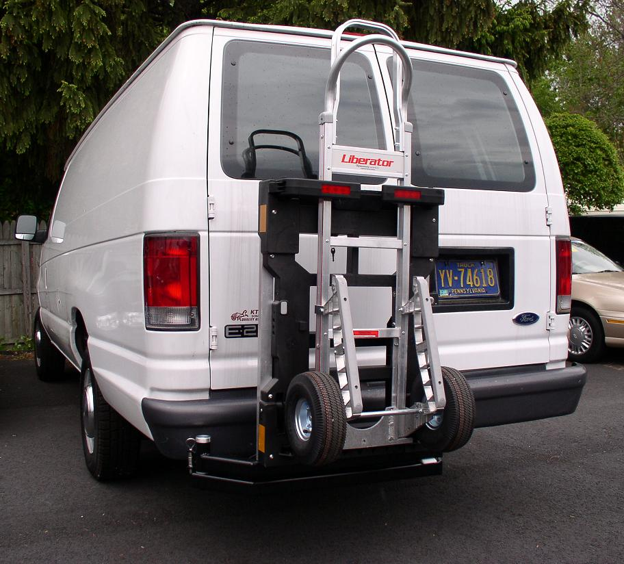 Ford E250 van  HTS-20S Swing Mount  B&P Manufacturing Liberator hand truck