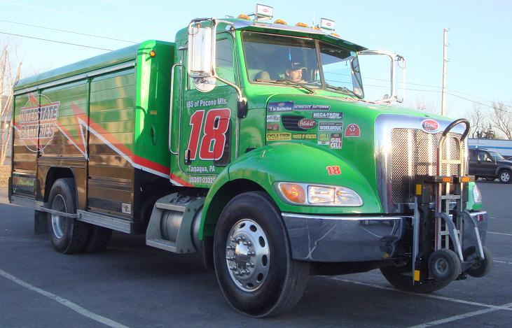 Peterbilt 335 Interstate Battery delivery truck