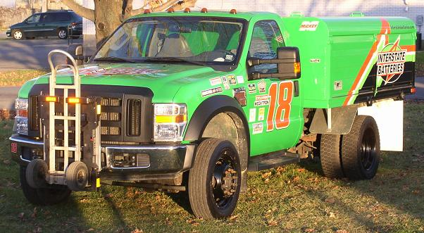 Interstate Batteries Ford F550 delivery truck