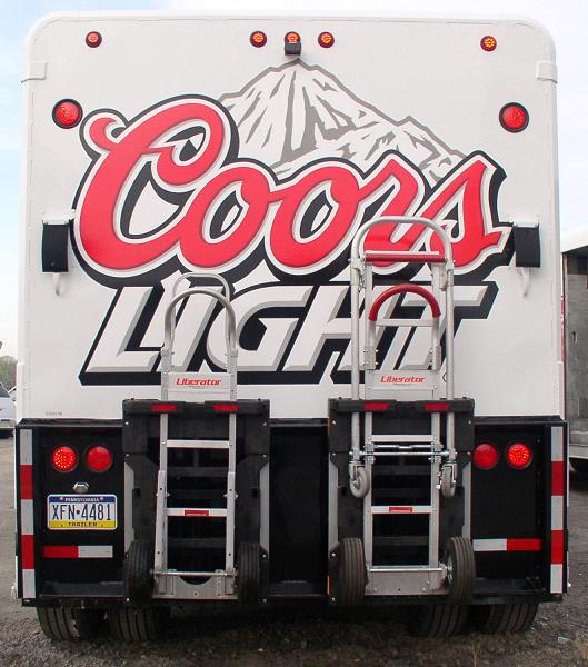 Coors Light Mickey Beverage Bodies - B&P Liberator hand trucks